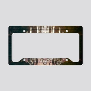 rustic farmhouse barnwood cha License Plate Holder