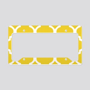 Yellow and White Chic Morocca License Plate Holder