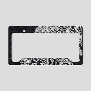 Black and White Decorative License Plate Holder