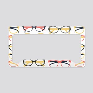 Hipster Glasses License Plate Holder