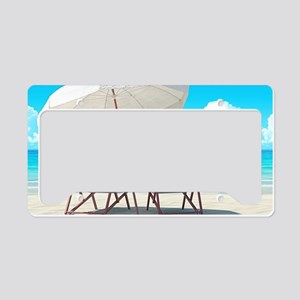Beach Vacation License Plate Holder