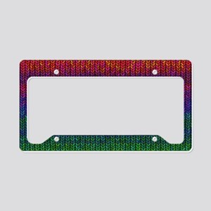 Rainbow Knit Photo License Plate Holder