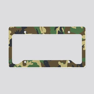 Woodland Camouflage License Plate Holder
