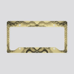 Stylized Angel Wings License Plate Holder