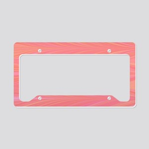 Pastle Pink Zigzag License Plate Holder