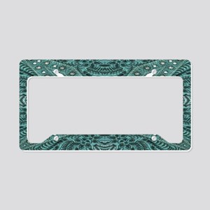 girly chic teal turquoise to License Plate Holder