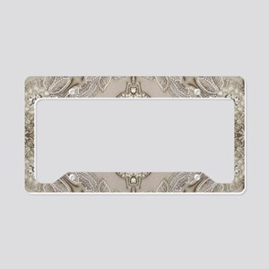 glamorous girly Rhinestone la License Plate Holder