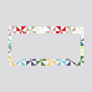 Colorful Geometric Pinwheel License Plate Holder