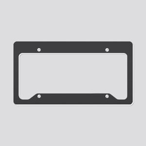 Gray Solid Color License Plate Holder