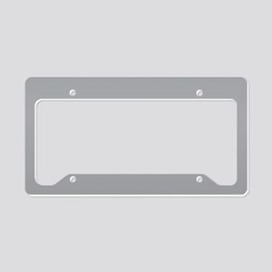 Light Gray Solid Color License Plate Holder