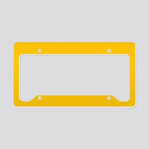Gold Yellow Solid Color License Plate Holder