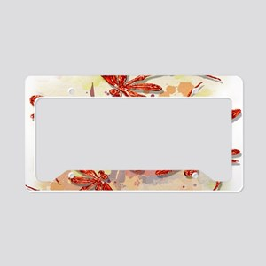Dragonfly Splash License Plate Holder