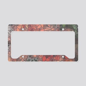 flowers such as stained glass2 License Plate Holde