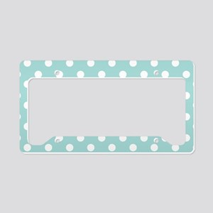 polka dots pattern License Plate Holder
