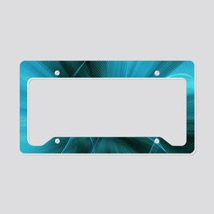 abstract turquoise teal blue License Plate Holder