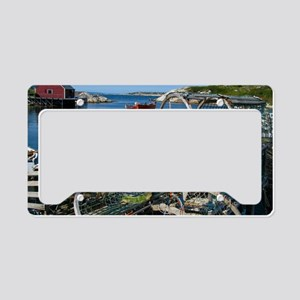 Bar Harbor Maine- sq.  License Plate Holder