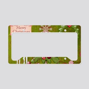 Merry_Christmas_baubles_pillo License Plate Holder