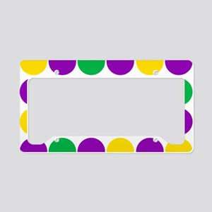 circles purple green gold License Plate Holder
