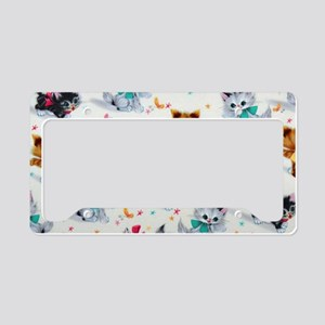 Cute Playful Kittens License Plate Holder