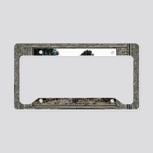 Old Cabin Window elk herd License Plate Holder