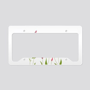 Pretty Flowers License Plate Holder