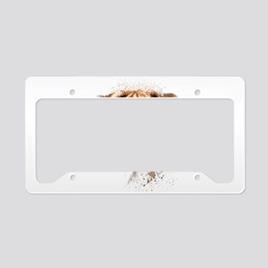 Boxer Painting License Plate Holder
