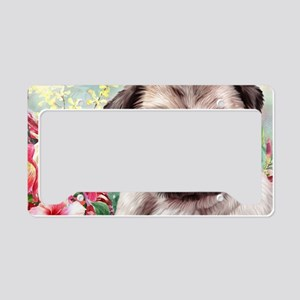 Pug Painting License Plate Holder
