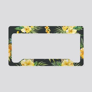 Tropical License Plate Holder