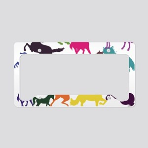 Rainbow Horses License Plate Holder