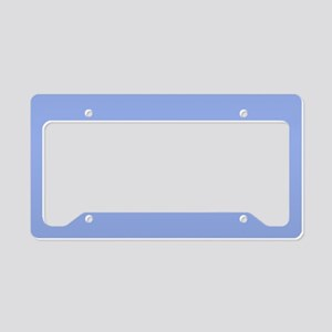 Solid Light Blue License Plate Holder