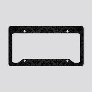 Elegant Black License Plate Holder