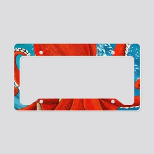 Octopus Painting License Plate Holder