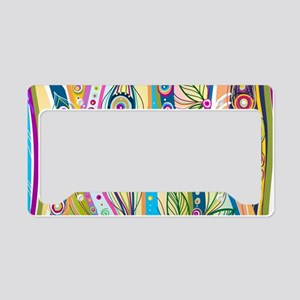 Colorful Flourish License Plate Holder