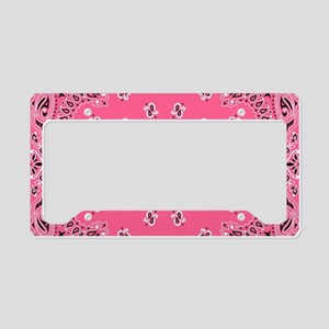 Pink Bandana License Plate Holder