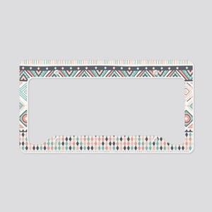Native Pattern License Plate Holder