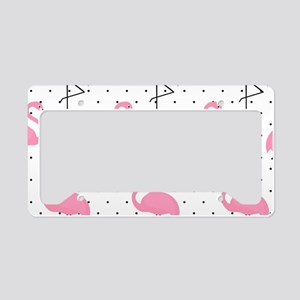 Cute Flamingo License Plate Holder