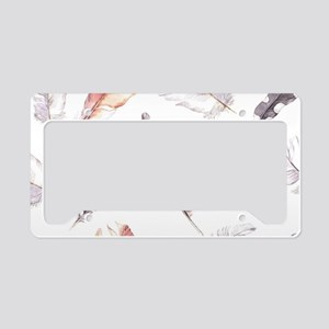 Feathers License Plate Holder
