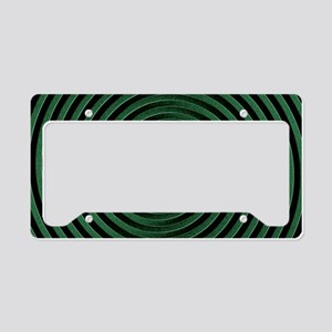Green Spiral License Plate Holder