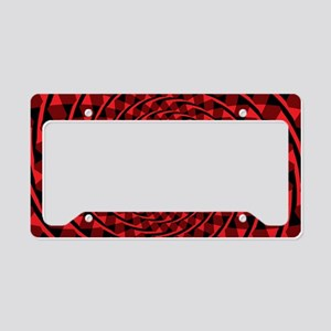 Red Spiral License Plate Holder
