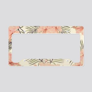 Vintage Flamingo License Plate Holder