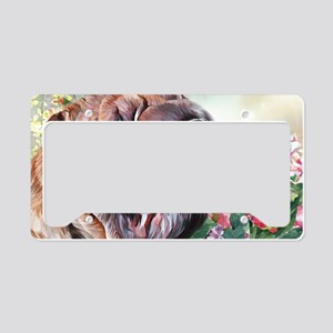 Shar Pei Painting License Plate Holder