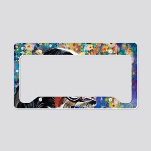Bernese Mountain Dog Painting License Plate Holder