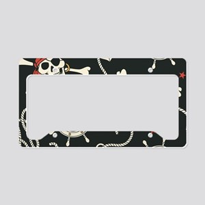 Pirate Skulls License Plate Holder