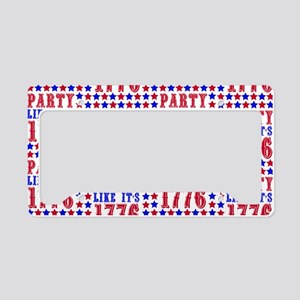 Party Like It's 1776 License Plate Holder
