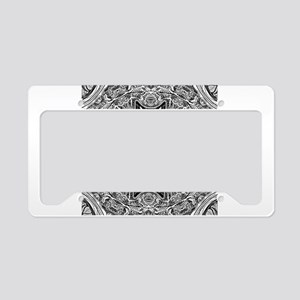 Mandala Pattern License Plate Holder