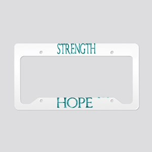 CRPS RSD Faith Courage Streng License Plate Holder