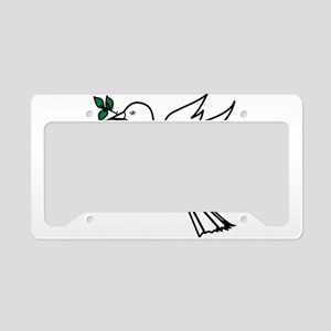 Dove and olive branch 3 License Plate Holder