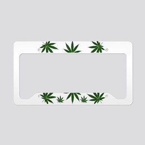 Stoned 420 Leaf Print License Plate Holder