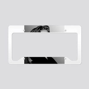 Oscar Wilde portrait-only ite License Plate Holder