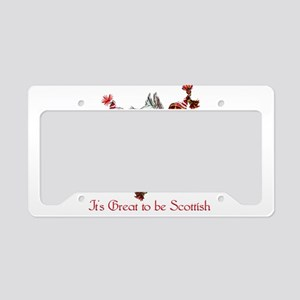 Proud Wheaten Scottie License Plate Holder